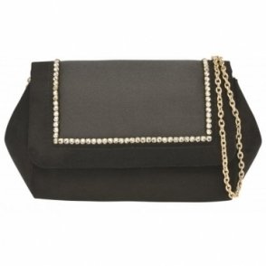Black Lyra Clutch Bag