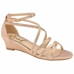 Rose Rosa Wedge Sandals | Ravel