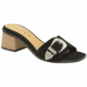 Black Baker Suede Mule Sandals | Ravel