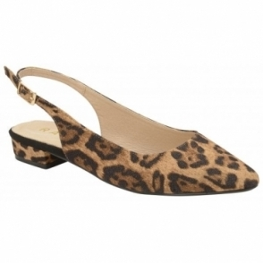Leopard Highlands Slingback Flat Shoes | Ravel