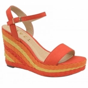 Red Dixie Wedge Open-Toe Sandals | Ravel