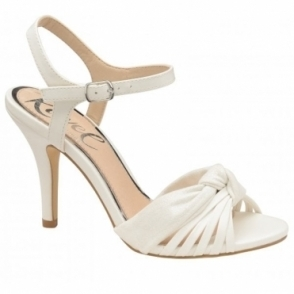 White Melrose Heeled Open-Toe Sandals | Ravel