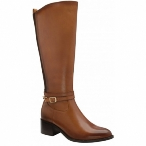 Tan Raglan Leather Knee High Boots | Ravel