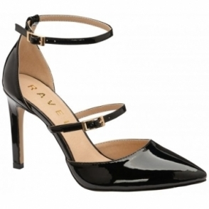 Black Doyle Ankle-Strap Court Shoes | Ravel
