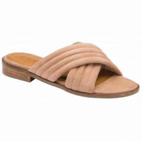 Blush Sarina Suede Mule Sandals | Ravel