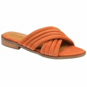 Rust Sarina Suede Mule Sandals | Ravel