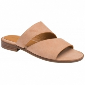 Blush Paxton Suede Mule Sandals | Ravel