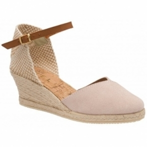 Rose Pink Springwood Espadrille Wedge Sandals | Ravel