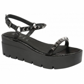 Black Manilla Flatform Sandals | Ravel