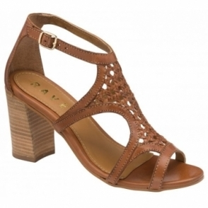 Tan Coreen Leather Heeled Sandals | Ravel