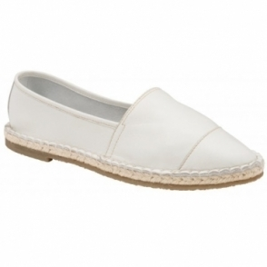 White Bargo Leather Slip-On Shoes | Ravel