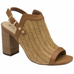 Tan Clifton Heeled Sandals | Ravel