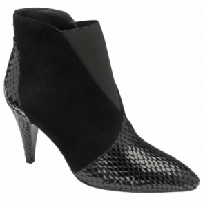 Black Snake-Print Baracoa Pull-on Boots | Ravel