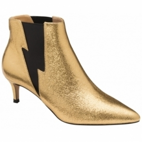 Gold Bauta Kitten Heel Sock-Boots | Ravel