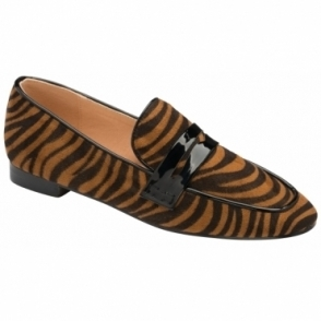 Tan Zebra-Print Luis Loafers | Ravel