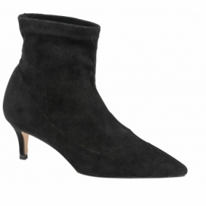 Black Madruga Pointed-Toe Sock Boots | Ravel