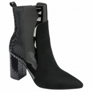 Black Sagua Mid-Calf Boots | Ravel