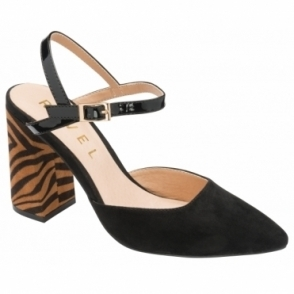 Black & Tan Zebra-Print Zaza Court Shoes | Ravel