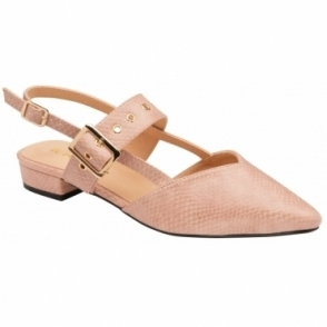 Nude & Lizard-Print Haisley Shoes | Ravel