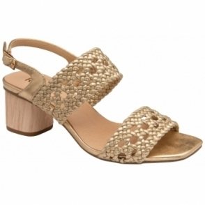 Gold Kimia Heeled Sling-Back Sandals | Ravel