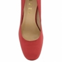 Red Baldwin Suede Court Shoes | Ravel