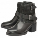 Black Keswick Leather Heeled Ankle Boots | Ravel