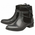 Black Marshall Leather Ankle Boots | Ravel