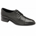 Black Bethal Leather Lace-Up Shoes | Ravel