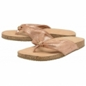 Rose Gold Glade Leather Toe-Post Sandals | Ravel