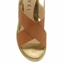 Tan Malone Wedge Slingback Sandals | Ravel