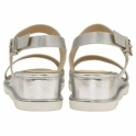 Silver Sanford Wedge Open-Toe Sandals | Ravel