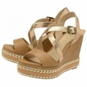 Tan Yulee Wedge Open-Toe Sandals | Ravel
