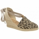 Leopard Antora Suede Espadrille Wedge Sandals | Ravel