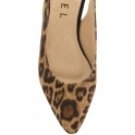 Leopard-Print Highlands Slingback Flat Shoes | Ravel