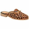 Leopard Brooker Suede Backless Loafers | Ravel