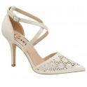 White Volusia Heeled Pumps | Ravel