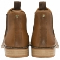 Tan Graven Leather Slip-On Ankle Boots | Ravel
