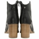 Black Foxton Leather Heeled Ankle Boots | Ravel