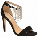 Black Pomona Embellished Heeled Sandals | Ravel