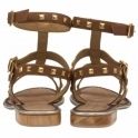 Tan Parkes Leather Strappy Sandals | Ravel