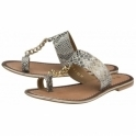 Off White/Black Snake-Print Taree Leather Mule Sandals | Ravel