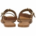 Tan Neath Leather Flat Sandals | Ravel