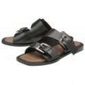 Black Kintore Leather Mule Sandals | Ravel