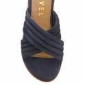 Navy Sarina Suede Mule Sandals | Ravel