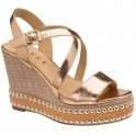 Rose Gold Hexham Open-Toe Wedge Sandals | Ravel