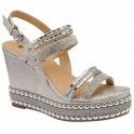 Silver Cobar Open-Toe Wedge Sandals | Ravel