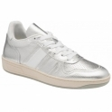 Silver Coen Leather Trainers | Ravel