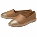 Tan/Gold Bargo Leather Slip-On Shoes | Ravel