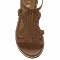 Tan Cardwell Leather Wedge Sandals | Ravel