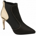 Black & Gold Amancio Ankle Boots | Ravel